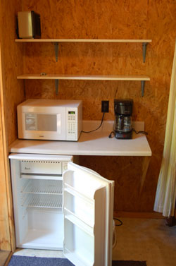 cabins microwaves + fridge